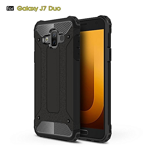 meet ceb5f 6ed33 For Galaxy J7 DUO Case Hybrid Durable Shield Armor Rugged Shockproof Back  Cover For Samsung Galaxy J7DUO Case 5.5inch