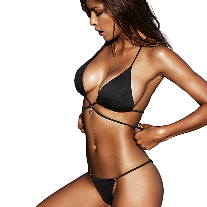 f2bd9e942b ... Sexy Women Wraparound Halter Thong Bikini Set Leopard Snakeskin Pattern  Swimwear Push Up Swimsuit ...