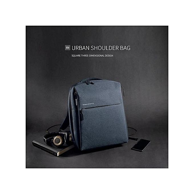6ef029b2b0a ... UJ Xiaomi Mi Waterproof Travel Backpack Urban Casual Life Style City Bag  Office-Dark Blue ...