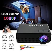 1920 x 1080 Pixels H60 TFT LCD 1000 Lumens Projector Cinema Theater Black AU Plug