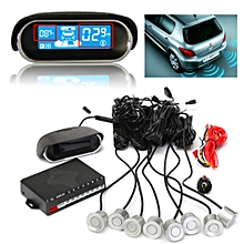 8 Parking Sensors Car Vehicle Reverse Backup Radar Alarm Buzzer With LCD Display - Black