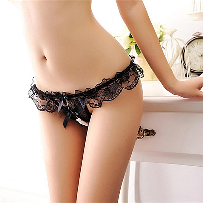 72f0a0cb58 ... New Womens Floral Lace Sexy Comfortable Low Rise Open Crotch Bikini  Underwear Briefs ...