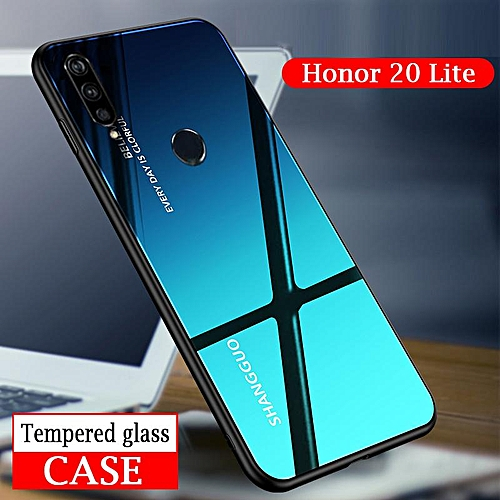 Gradient Glass Phone Case For Honor 20 Lite Case Tempered Glass Aurora  Mirror Cover Full Coverage For Honor 20 Lite Casing Shell (Honor 20  Lite-Blue)