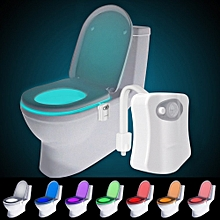 KWB Motion Activated Toilet Night Light 8 Color Changing Led Toilet Seat Light Motion Sensor Toilet Bowl Light RGB