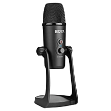 BOYA BY-PM700 USB Sound Recording Condenser Microphone with Holder, Compatible with PC / for Live Broadcast Show, KTV, etc. (Black)
