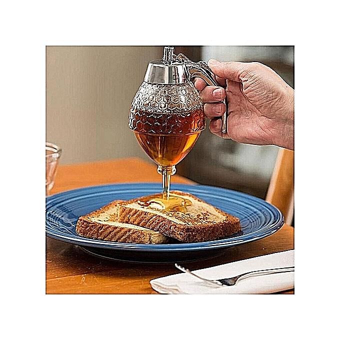 48d54af13fe1 Honey Dispenser Jar Container Cup Portable Acrylic Honey Squeeze Storage  Pot Juice Bee Drip Bottle