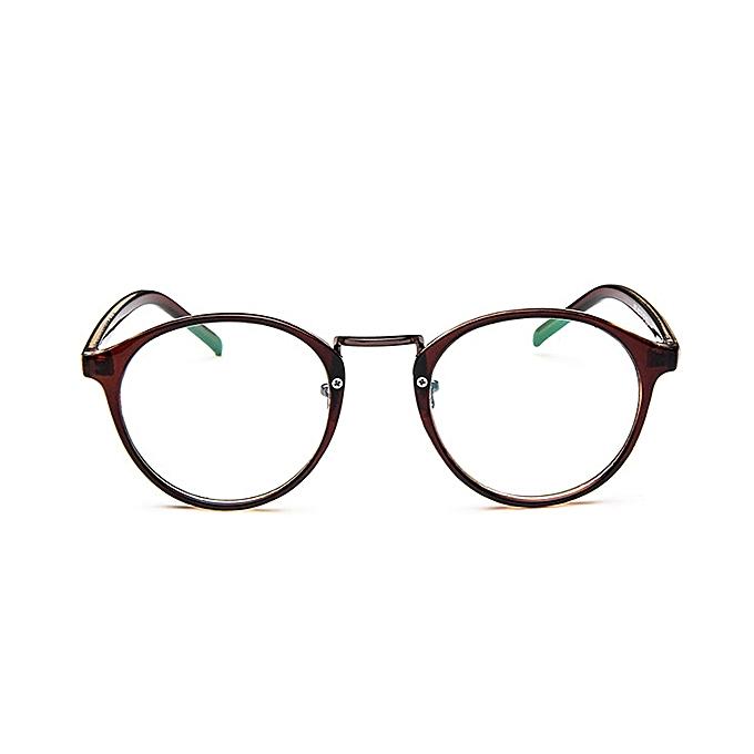 6c08b2ffbe3e Fashion Women Mens Clear Lens Glasses Vintage Round Frame Matal Retro Plain  Glasses