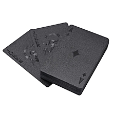 Waterproof Black Plastic Poker 54pcs Playing Cards Table Game Gift Magic Stylish # Building
