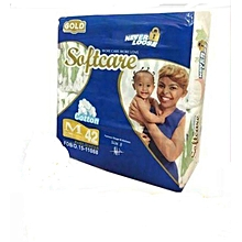 Soft Care baby diapers medium -Gold (6.1-9 KGS) 42 pieces