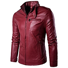 100% Leather Spring Men's Genuine Leather Plus Size Jackets Real Sheepskin Black Male Genuine Leather Jacket For Men -red