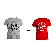 Boy child Grey T-shirt Design and Red +254 T-shirt Design