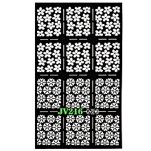 1 Sheets New Nail Hollow Irregular Grid Stencil Reusable Manicure Stickers