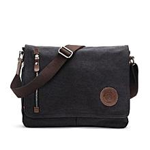 Pure Color Outdoor Bag Ventilate Large Capacity Augur 8501 Canvas Schoolbag Cross Body Single Shoulder Bag With Durable Strap(Black)