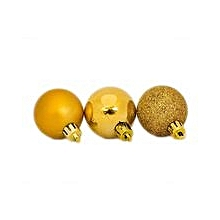 4cm Assorted Gold Christmas Balls (12pcs)