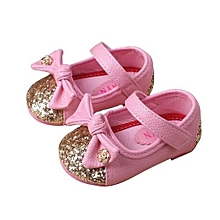 89dccf3268217 bluerdream-Bow Girls Shoes Princess Small Shoes Square Mouth Children Shoes  -As Shown