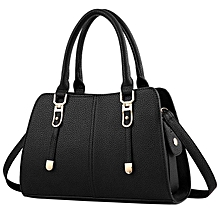 bluerdream-New Fashion Women Shoulder Bag Crossbody Tote Handbag Purse Leather-Black