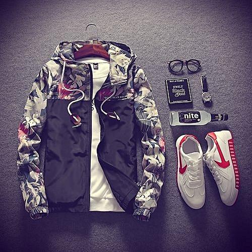 24cfbec21cb61 Generic Hot Stuff Floral Bomber Jacket Men Hip Hop Slim Fit Flowers Pilot  Bomber Jacket Coat Men s Hooded Jackets Plus Size-black   Best Price