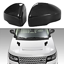 Pair Carbon Fiber Rear View Side Mirror Cover Caps For Range Rover L405 2013-17