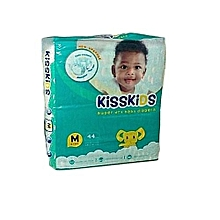 Kisskids Baby Disposable Super Dry Soft Diaper Medium Size, 6-11kgs, 44 Count
