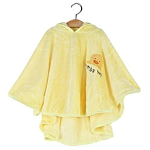 Girls Velvet Baby Cloak - Yellow