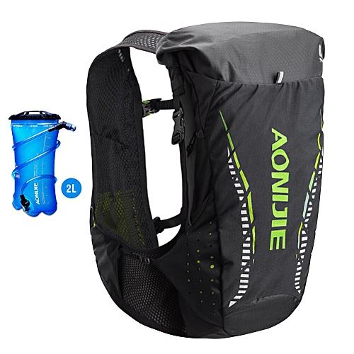 3b84037abd AONIJIE C943 Outdoor Lightweight Hydration Backpack Rucksack Bag Vest for 2L  Water Bladder Hiking Camping Running Marathon Race(Black Green-Set A)