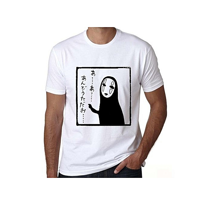 122723383d7 Japanese Anime Spirited Away T Shirt Men Ghibli Mask No Face Tees  Short-sleeves Casual