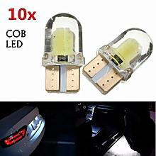 10pcs T10 W5W COB 8-SMD LED Canbus Silica Bright White License Light Bulb 194 168