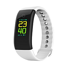 0.96 Inch Screen Smart Bracelet With Blood Oxygen Blood Pressure Monitor white