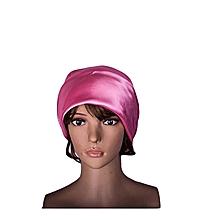 Hot Pink Charmeuse Satin Sleep Scarf 36x36 inches.