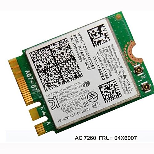 Intel Dual Band Wireless-AC 7260 WiFi+BT 4 0 Combo card For Lenovo Thinkpad  Y40 Y50 X240 T440 Series ,FRU 04X6007 20200552( )