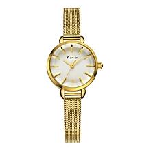 Exclusive Gold Strap Lady Wrist Watch + Free Gift Box