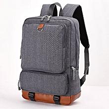 "School Backpack 15"" Laptop Bookbag Student Rucksack With USB Charging Port - Dark Grey"