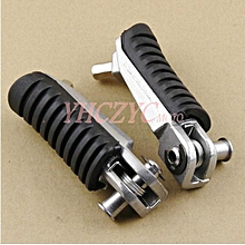 Motorcycle Front Footrest Pedal Foot Pegs for Kawasaki EX250 NINJA ER-4F KLE650 - Black