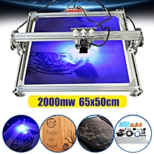 2000mw 65x50cm Area Laser Engraving Cutting Wood Machine Printer Kit Desktop