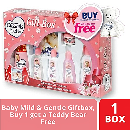 Baby Soft & Smooth Giftbox - Buy 1 Get a Teddy Bear Free