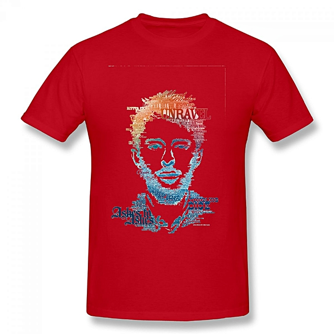 dfb338299a09 Generic Thom Yorke Radiohead Men's Cotton Short Sleeve Print T-shirt ...