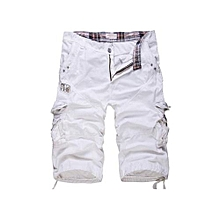 All-cotton Cargo Pants Korean Men's Seven-point Trousers Men's Casual Trousers Of Large Size There Is No Belt