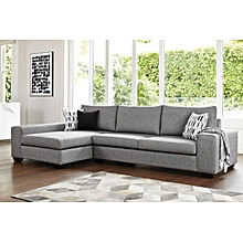 Fabric L Shape 5 Seater (Grey)
