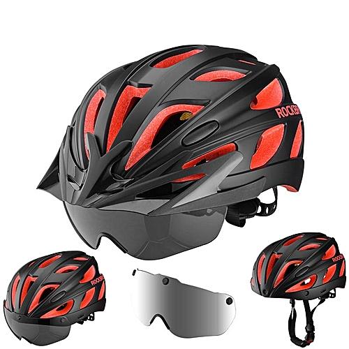 Buy Generic ROCKBROS Bike Magnetic Helmet Sunglasses Bicycle Helmet Cycling Polarized Lense Visor Light Helmets @ Best Price | Jumia Kenya