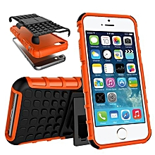 "For IPhone 5C Case, Hard PC+Soft TPU Shockproof Tough Dual Layer Cover Shell For 4.0"" For IPhone 5C, Orange"