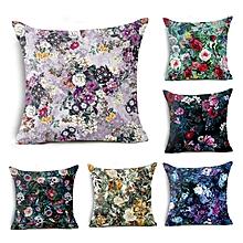 Honana BX 45x45cm Home Decoration Colorful Flowers Plants 6 Optional Patterns Pillow Case