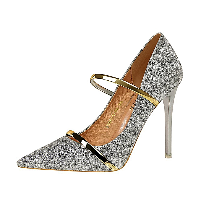 d24452d05a2 Sequin High-Heeled Shoes Woman Pumps Pointed Toe Stiletto Party Women Shoes  Fashion High Heels