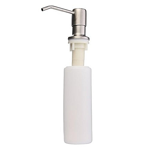 Free Shipping Wholesale And Retail Promotion Deck Mount Brushed Nickel Soap  Dispenser Kitchen Sink Liquid Soap