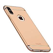MOFI Three Stage Splicing Full Coverage PC Case for iPhone XS Max (Gold)
