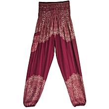 Wide  Leisure Lantern wine red Women Yoga Pants