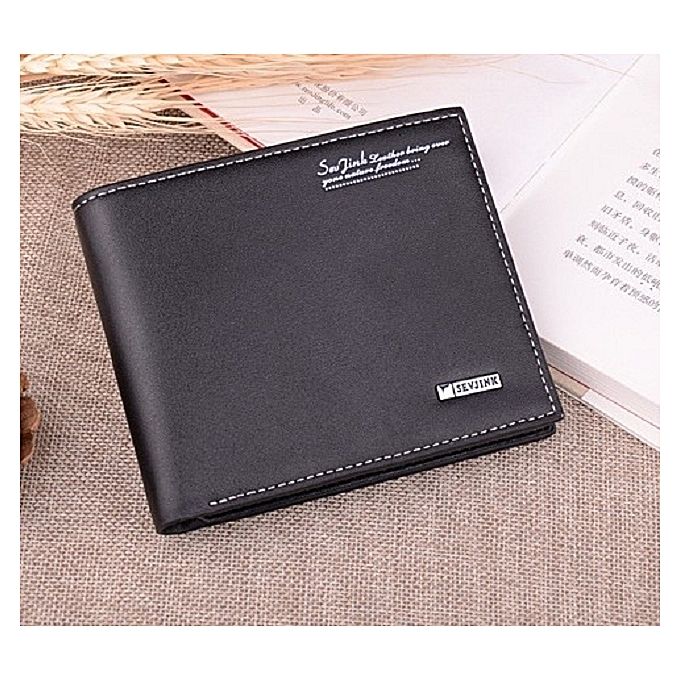Black Horizontal Style OfThe Gift Box Bag Packing Engraves Word Purse Male Short Of