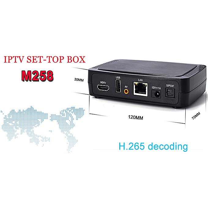 Intelligent Smart Personal Television Internet High Definition For Stalker  Faster M258 TV Box
