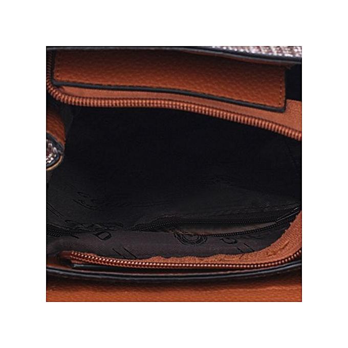 02b1ef69cd81 ... Zetenis Women Girl Leather Rucksack Shoulder Bookbags School Bag  Satchel Travel Backpack -Brown