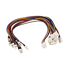 4 Pins CPU Cooling Fan Extension Resistor Cable Wire Internal Power Cord
