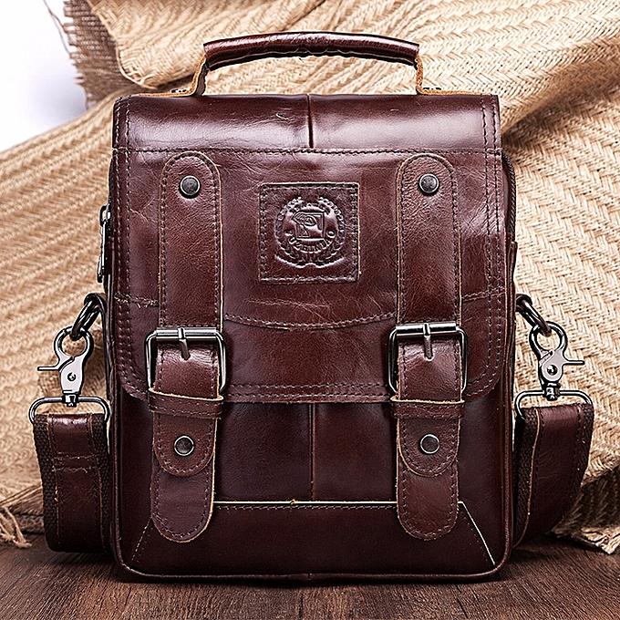 c60856c486 FUZHINIAO Men Genuine Leather Messenger Bag Shoulder Bag Handbags Crossbody  Tote for Mens Briefcase ...